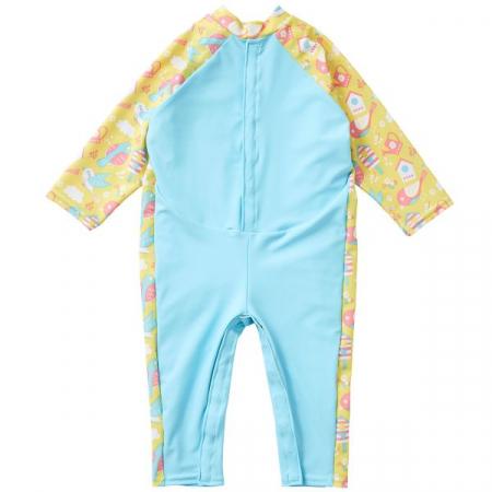 Costum protecție UV bebeluşi - UV All In One  Păsări de Grădină1