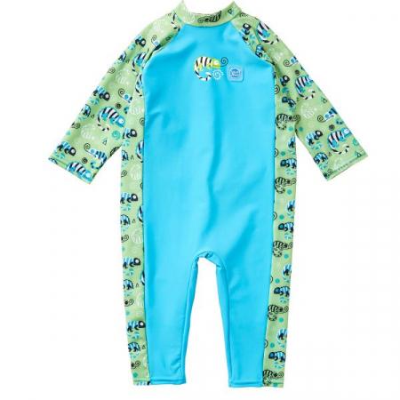Costum protecție UV bebeluşi - UV All In One Gegoşii Verzi0