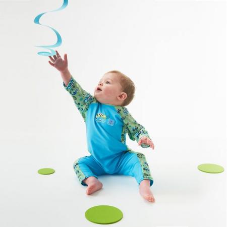 Costum protecție UV bebeluşi - UV All In One Gegoşii Verzi3