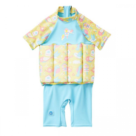 Costum înot plutitor/protecție UV copii-UV Floatsuit Păsări de Grădină0