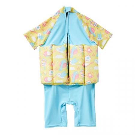 Costum înot plutitor/protecție UV copii-UV Floatsuit Păsări de Grădină1