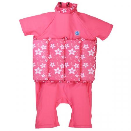 Costum înot plutitor/protecție UV copii-UV Floatsuit Flori Rozalii [0]