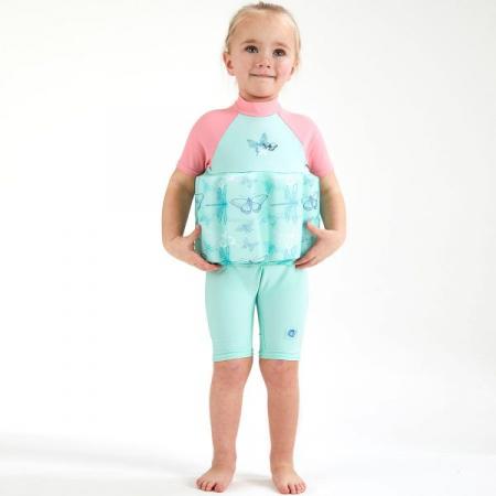 Costum înot plutitor/protecție UV copii-UV Floatsuit Libelule2
