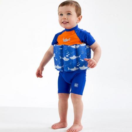 Costum înot plutitor/protecție UV copii-UV Floatsuit Rechinii Simpatici2