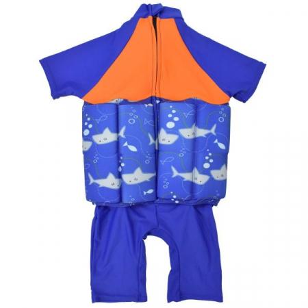 Costum înot plutitor/protecție UV copii-UV Floatsuit Rechinii Simpatici1