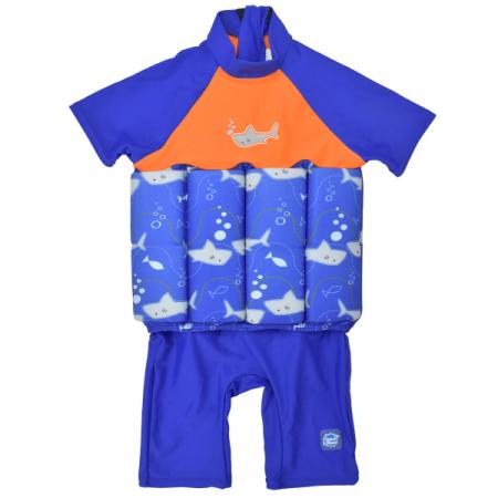 Costum înot plutitor/protecție UV copii-UV Floatsuit Rechinii Simpatici0