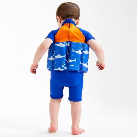 Costum înot plutitor/protecție UV copii-UV Floatsuit Rechinii Simpatici3