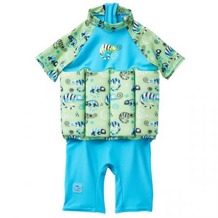 Costum înot plutitor/protecție UV copii-UV Floatsuit Gegoşii Verzi [0]