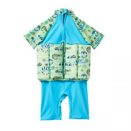 Costum înot plutitor/protecție UV copii-UV Floatsuit Gegoşii Verzi [1]