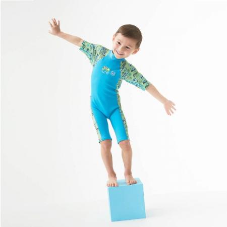 Costum protecție UV/neopren copii - UV Sun & Sea Gegoşii Verzi3