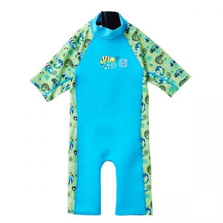 Costum protecție UV/neopren copii - UV Sun & Sea Gegoşii Verzi0
