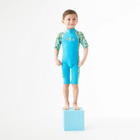 Costum protecție UV/neopren copii - UV Sun & Sea Gegoşii Verzi2