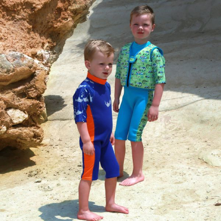 Costum protecție UV/neopren copii - UV Sun & Sea Rechinii Simpatici4