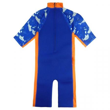 Costum protecție UV/neopren copii - UV Sun & Sea Rechinii Simpatici1