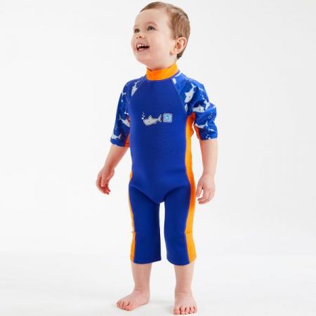 Costum protecție UV/neopren copii - UV Sun & Sea Rechinii Simpatici2
