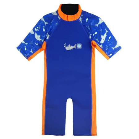 Costum protecție UV/neopren copii - UV Sun & Sea Rechinii Simpatici0