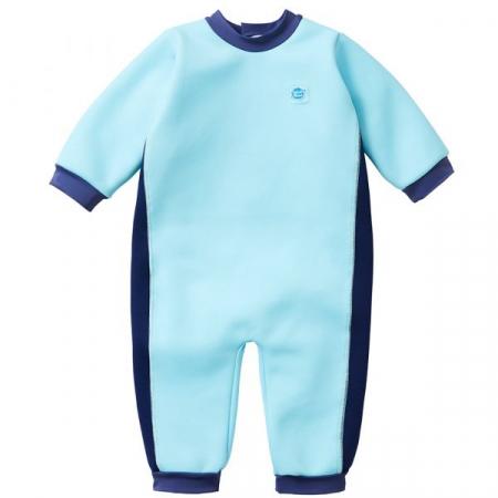 Costum întreg neopren bebeluşi - Warm In One™ Albastru Cobalt0