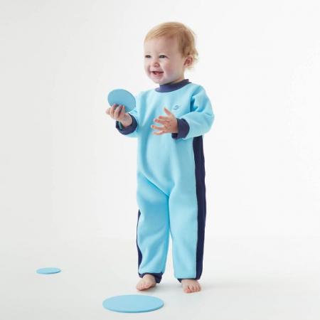 Costum întreg neopren bebeluşi - Warm In One™ Albastru Cobalt3