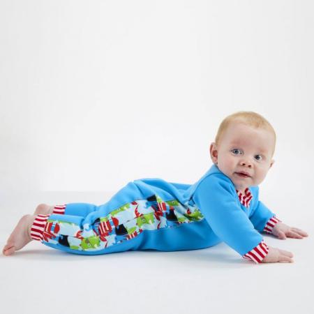 Costum întreg neopren bebeluşi - Warm In One™ Pirații Dino [3]