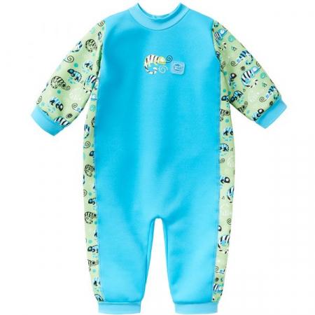 Costum întreg neopren bebeluşi - Warm In One™ Gegoşii Verzi0