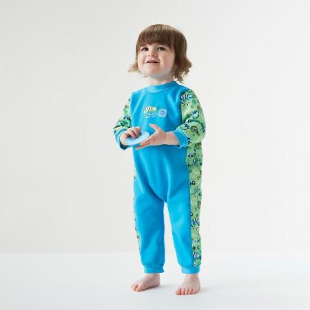 Costum întreg neopren bebeluşi - Warm In One™ Gegoşii Verzi2