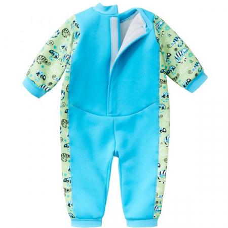 Costum întreg neopren bebeluşi - Warm In One™ Gegoşii Verzi1