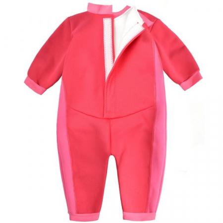 Costum întreg neopren bebeluşi - Warm In One™ Roz Geraniu1