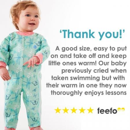 Costum întreg neopren bebeluşi - Warm In One™ Roz Geraniu2