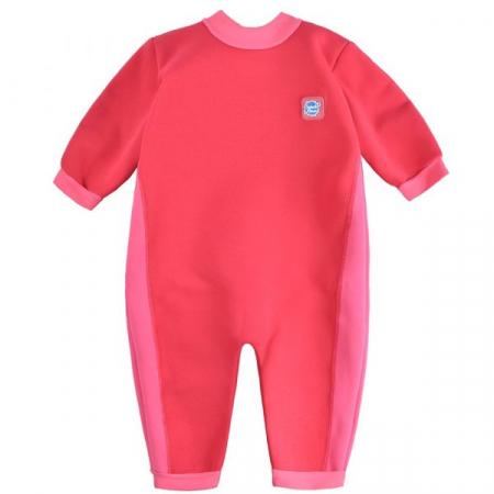 Costum întreg neopren bebeluşi - Warm In One™ Roz Geraniu0