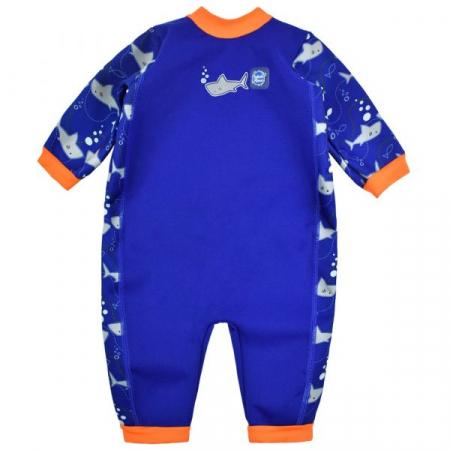 Costum întreg neopren bebeluşi - Warm In One™ Rechinii Simpatici0