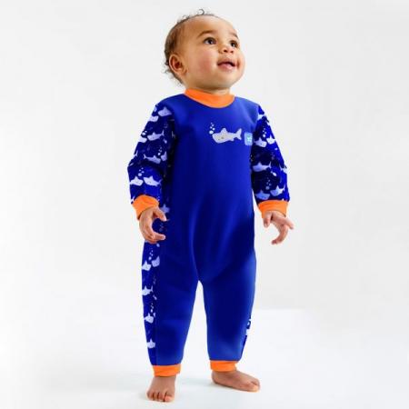 Costum întreg neopren bebeluşi - Warm In One™ Rechinii Simpatici2