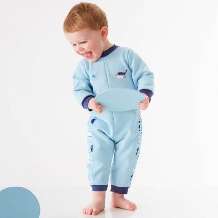 Costum întreg neopren bebeluşi - Warm In One™ Balene Uriaşe2