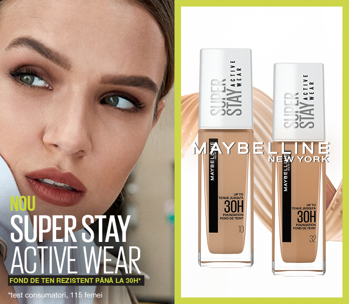 Fond de ten rezistent pana la 30H SuperStay Active Wear by Maybelline