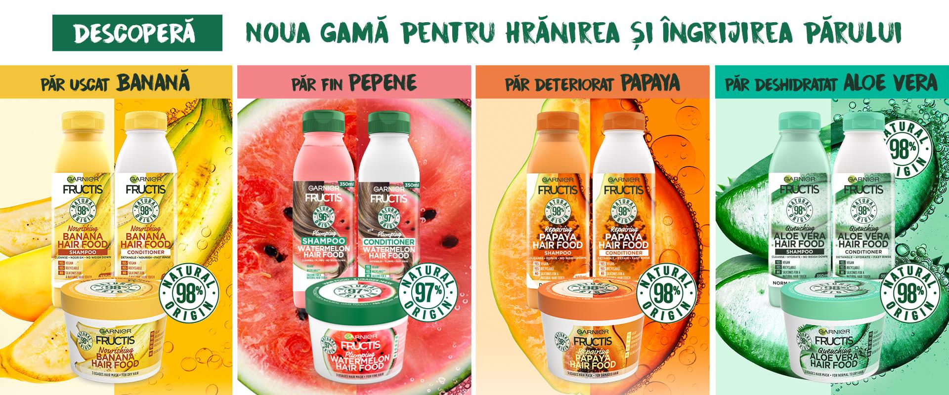 Descopera gama Fructis Hair Food