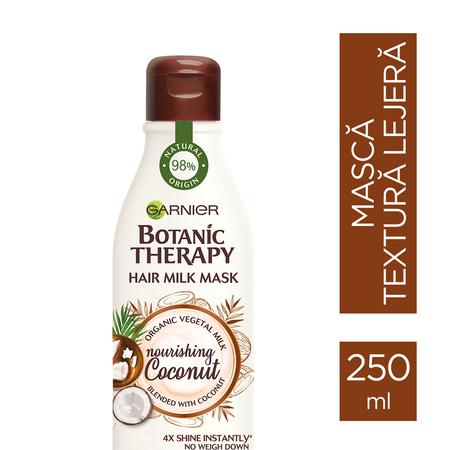 Masca hranitoare pentru par uscat lipsit de suplete, Milk Mask Coconut cu textura lejera de lapte , 250ml 1