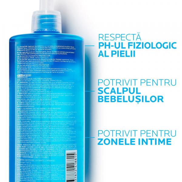 Gel de spălare pentru piele sensibilă, bebeluși, copii, adulți, La Roche-Posay Lipikar 750ml [3]