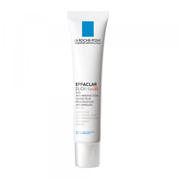 Cremă corectoare anti-imperfecțiuni eficientă împotriva semnelor post acneice și razelor UV LA ROCHE-POSAY Effaclar DUO (+) SPF 30, 40ml [0]
