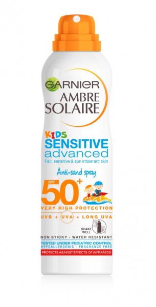 Spray cu protectie solara pentru copii Ambre Solaire Kids Sensitive Advanced SPF 50, 200 ml 0