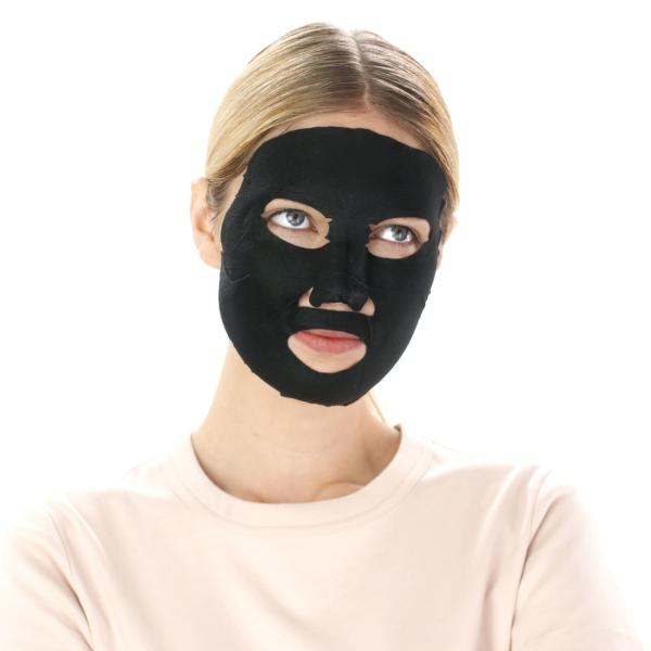 Set 20x Masca servetel cu alge negre pentru purificare, Pure Charcoal Skin Naturals - 28 g [3]
