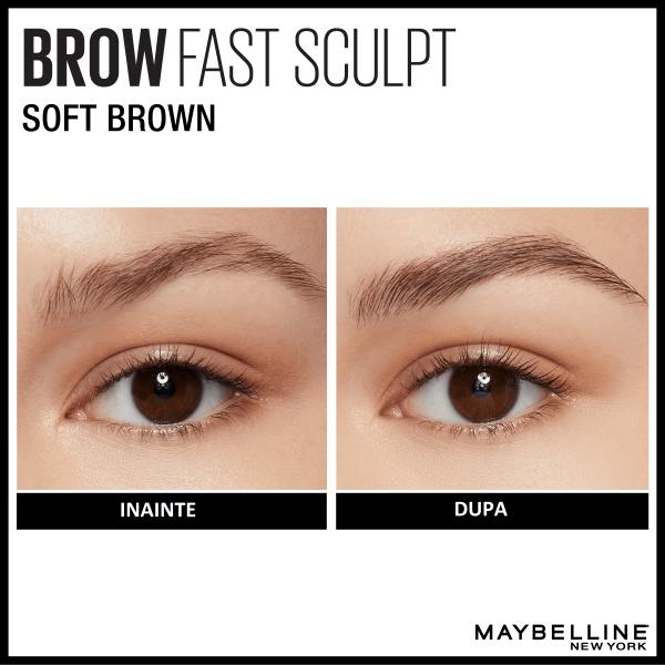 Mascara gel pentru sprancene Brow Fast Sculpt 04, Medium Brown - 2.8ml 4