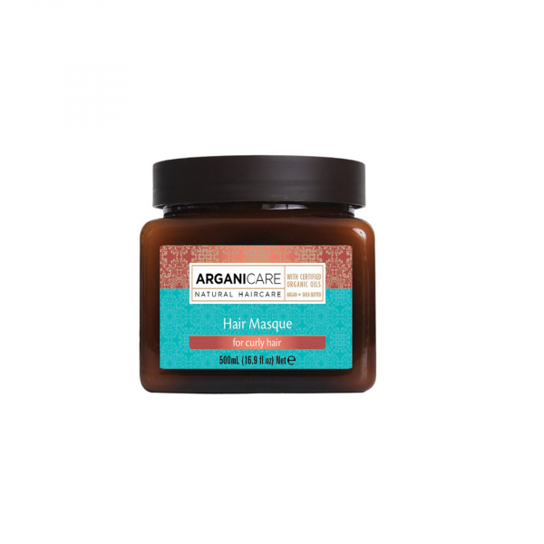 Masca pentru parul cret nutritiva cu unt de Shea ulei de Argan , Arganicare, 500 ml 0
