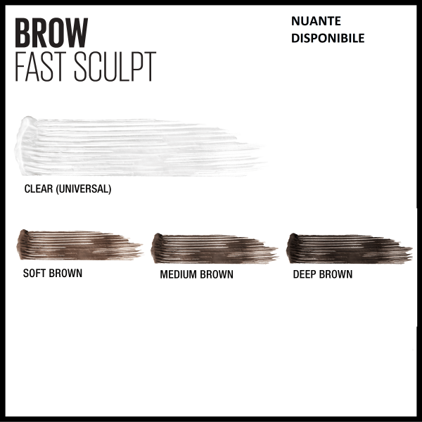 Mascara gel pentru sprancene Brow Fast Sculpt 04, Medium Brown - 2.8ml 5