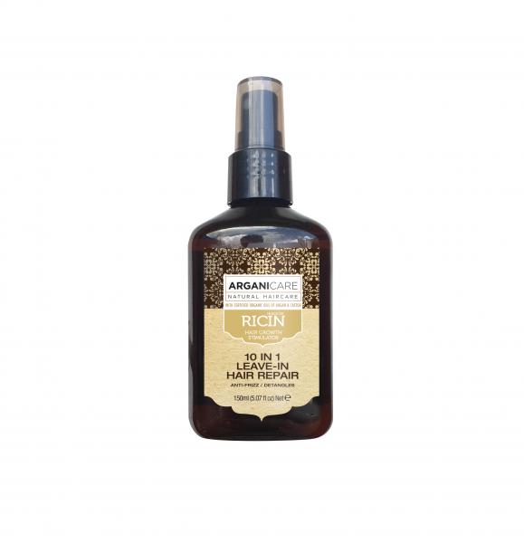 Spray reparator 10 in 1 fara clatire cu ulei de ricin, Arganicare, 150 ml [0]