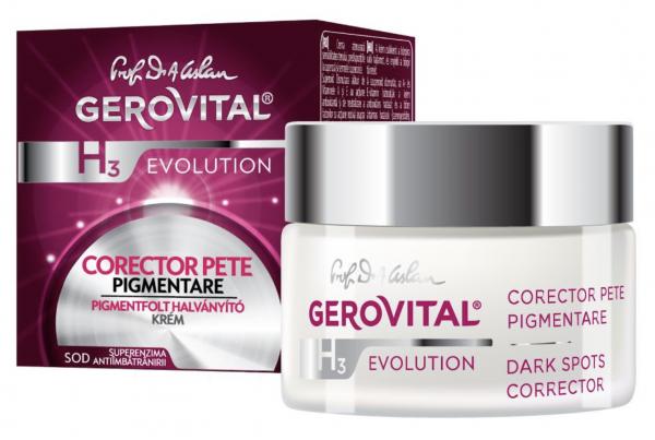 Crema pentru atenuarea petelor de pigmentare Gerovital H3 Evolution, 50 ml [0]