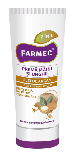 Crema de maini si unghii cu Argan 100 ml, Farmec [0]