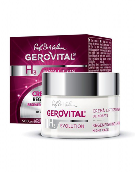 Crema lift regeneranta Gerovital H3 Evolution, de noapte, 50 ml [0]