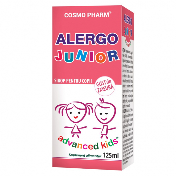 Alergo Junior Sirop, Cosmo Pharm, 125 ml 0