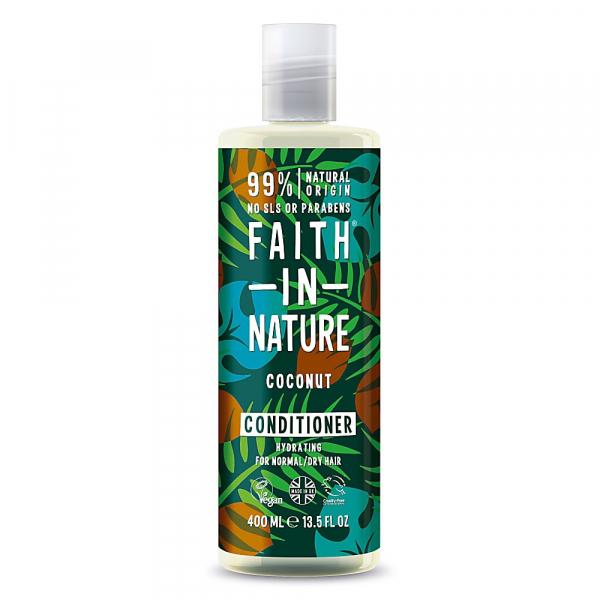 Balsam natural hidratant cu cocos, pentru par normal sau uscat, Faith in Nature, 400 ml 0