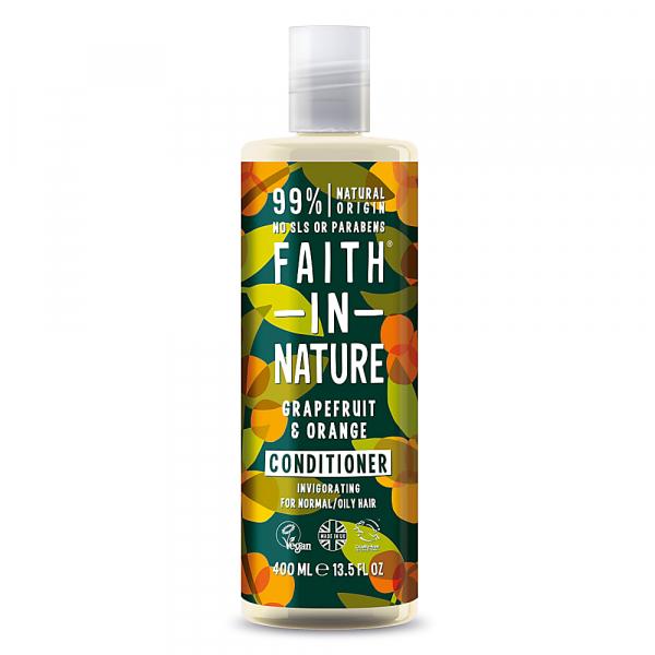 Balsam natural revigorant cu grapefruit si portocale, pentru par normal sau gras, Faith in Nature, 400 ml 0