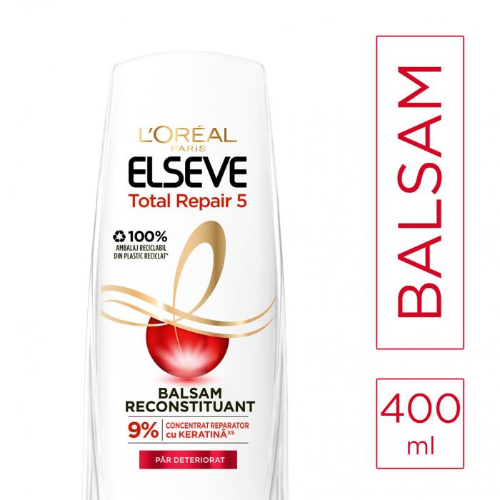Balsam pentru par deteriorat, Elseve Total Repair 5 - 400 ml 1